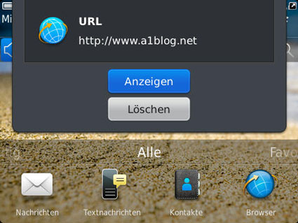 NFC Tag am BlackBerry Smartphone lesen
