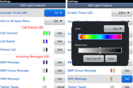 Free Advance OS and LED App fr BlackBerry