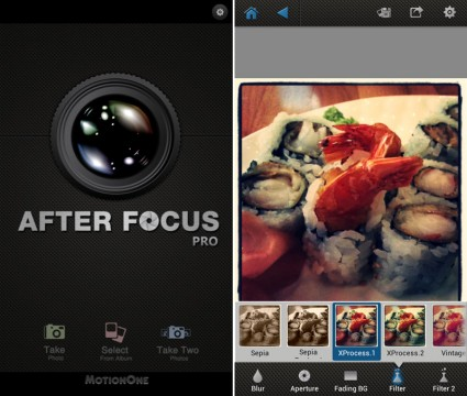 AfterFocus Photo-App fürs Apple iPhone und für Android
