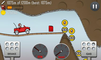 Spiele-Tipp für Android Smartphones & Tablets: Hill Climb Racing