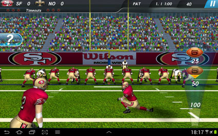 NFL Pro 2013 Football-Simulation für Smartphones und Tablets