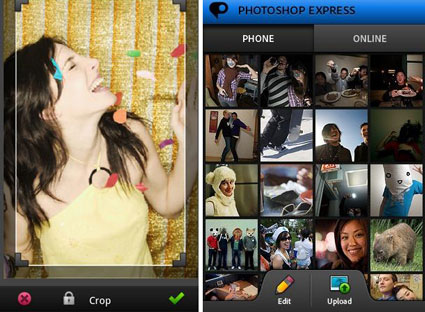 Adobe Photoshop Express für Android-Smartphones