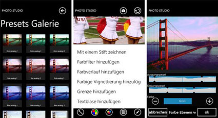 Photo Studio für Windows Phone Smartphones