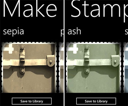 Make A Stamp Foto-App für Windows Phone 7