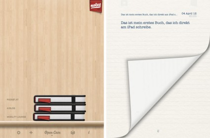 Pad & Quill Retro-Notebook App fürs Apple iPad