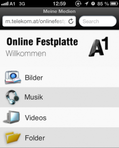 Medienmanager am Smartphone