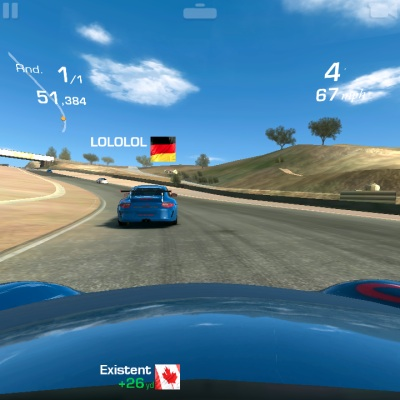 Real Racing 3 Rennspiel am BlackBerry 10 Smartphone