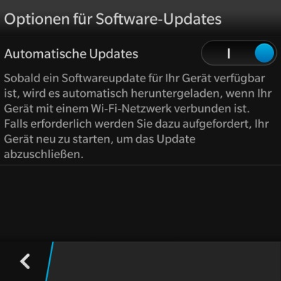 Update auf BlackBerry OS 10.2.1.537