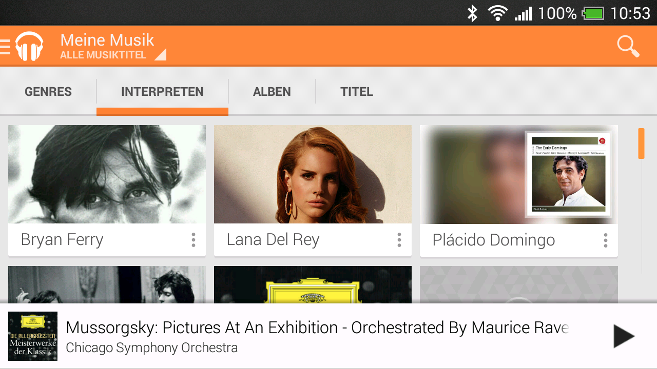 Musik am Smartphone / Tablet wiedergeben - Google Play Music