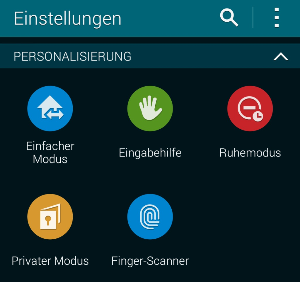Samsung Galaxy S5 - Finger-Scanner