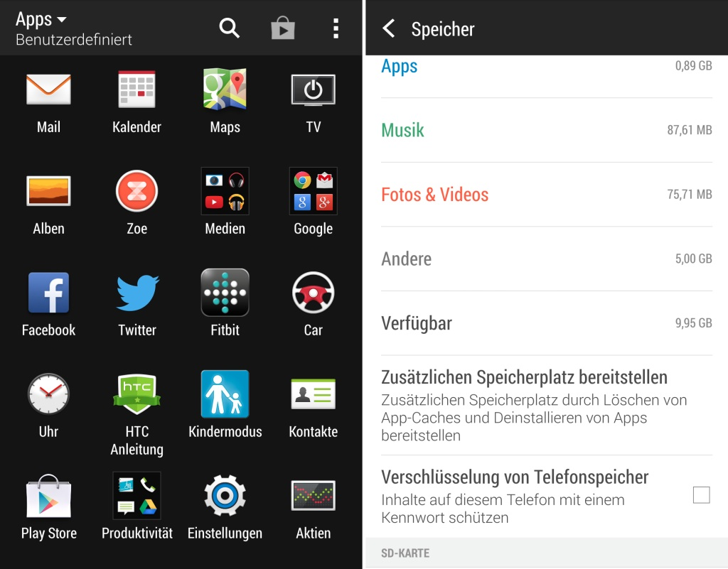 HTC One M8 Android Smartphone - Screenshots
