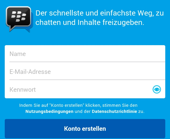 BlackBerry Messenger BBM V2.2. für Android & iPhone