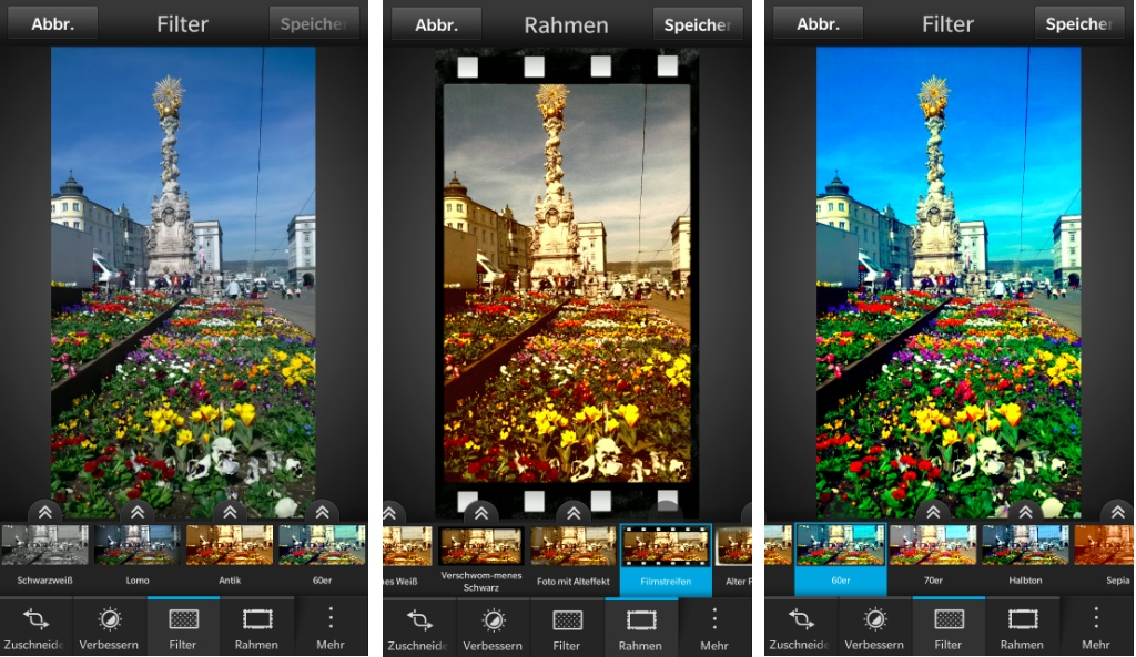 BlackBerry 10 Tipp: Fotos direkt in der Bilder-App ...