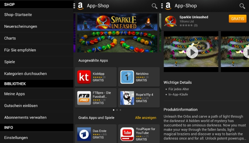 Amazon Android App-Shop ab BlackBerry 10.3