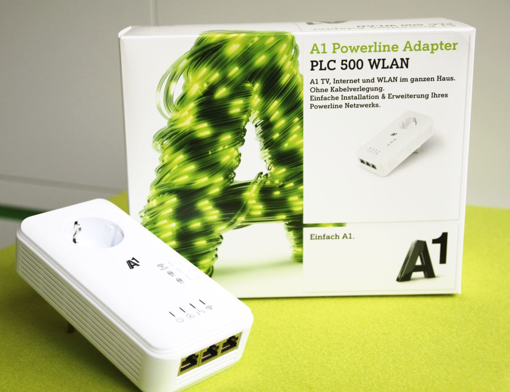powerline adapter mit wlan die neuen multitalente a1blog. Black Bedroom Furniture Sets. Home Design Ideas