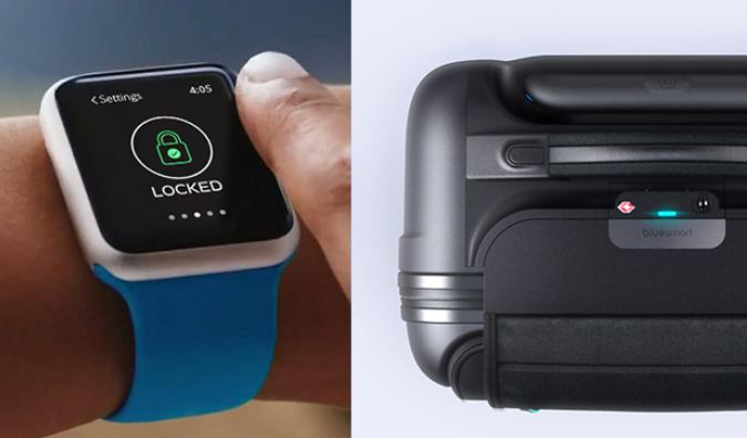 Bluesmart connected luggage smartwatch