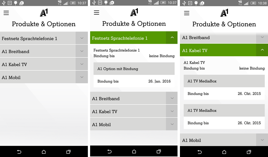 Mein A1 App Android Festnetz