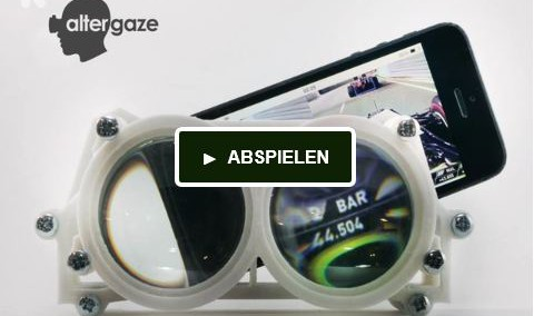 Altergaze: Virtual Reality Brille fürs Smartphone aus dem 3D Drucker