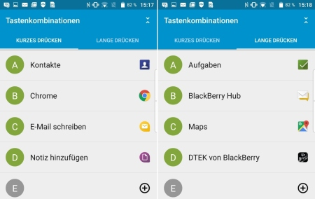 BlackBerry Priv Shortcuts