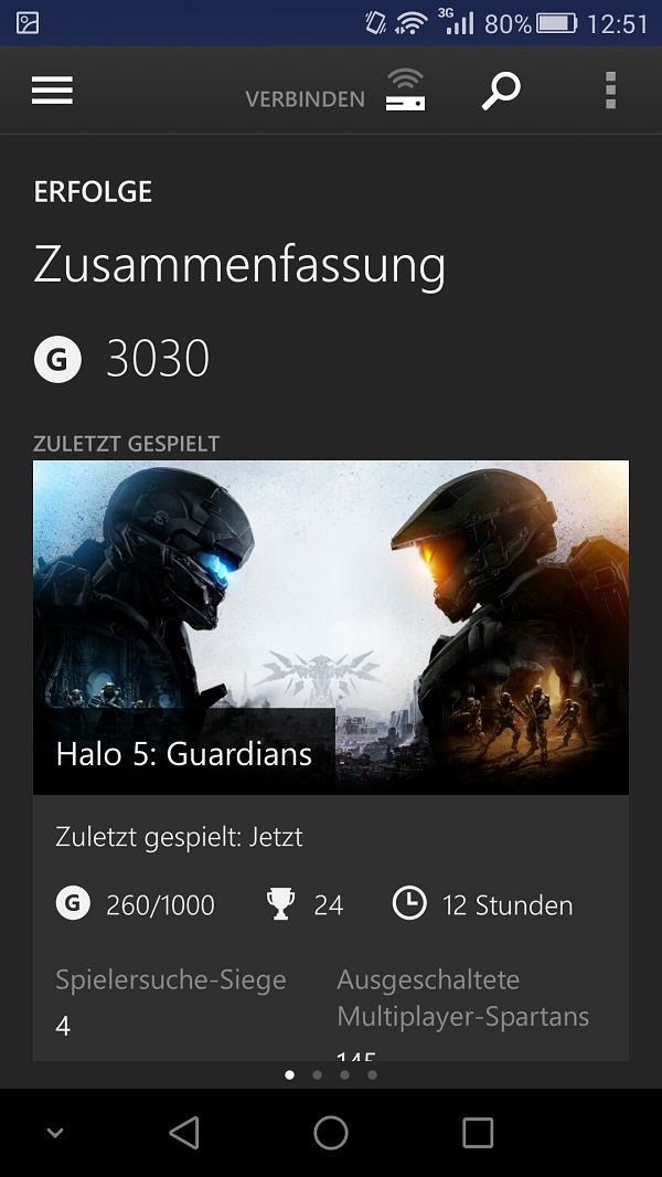 Xbox One Smartglass Profil