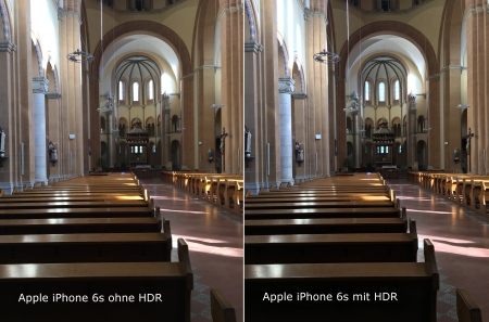Apple iPhone 6s HDR Vergleich