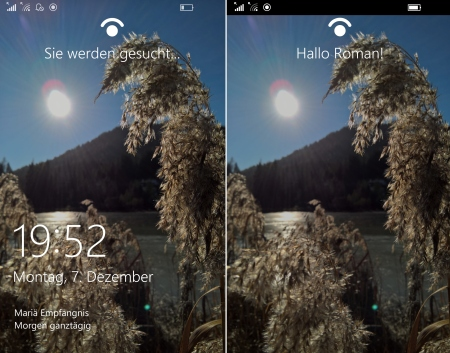 Microsoft Lumia 950 Windows Hello Test