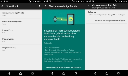 Sony Xperia Z5 Tipps Smart Lock