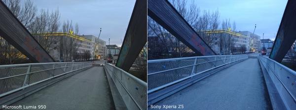 Vergleich Kamera Lumia 950 Sony Xperia Z5 Dämmerung