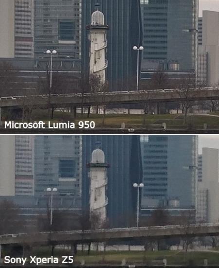 Vergleich Kamera Lumia 950 Sony Xperia Z5 Zoom Pixel Details