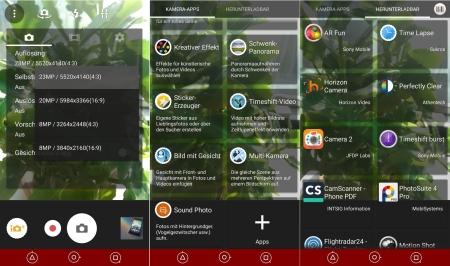 Sony Xperia Z5 Kamera App