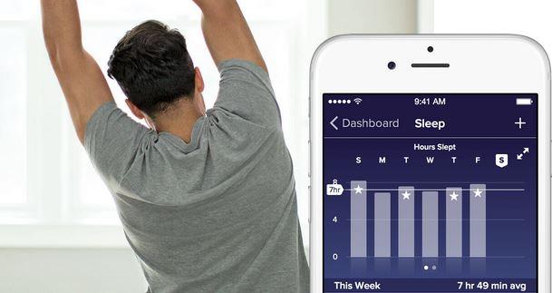 Fitbit Blaze App am Smartphone