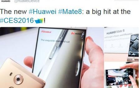 Huawei Mate 8 Tweet CES 2016
