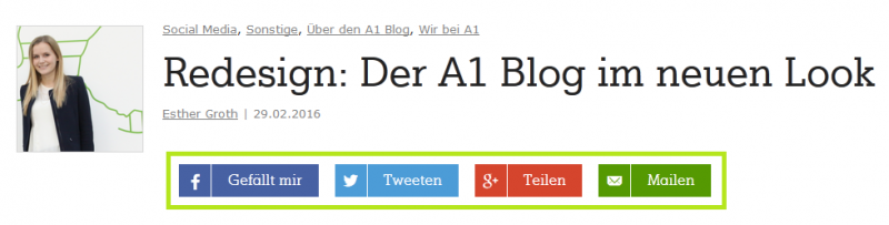 A1 Blog Social Icons