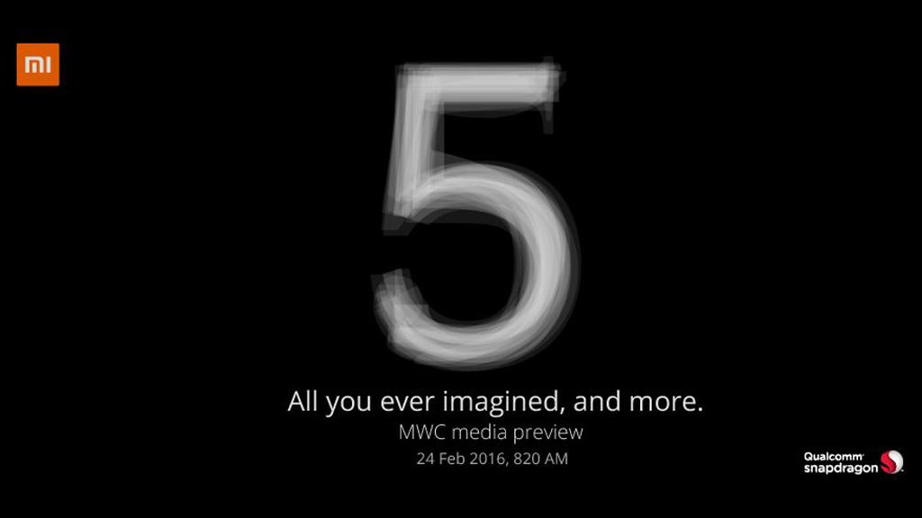 Xiaomi 5 MWC 2016 Ankündigung im Februar