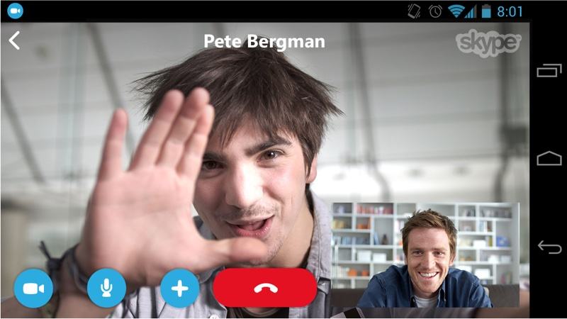 Microsoft Skype am Android-Smartphone