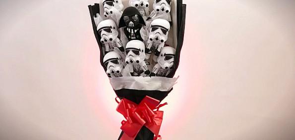 Star Wars Blumenstrauss Geschenktipp für Geeks Valentinstag