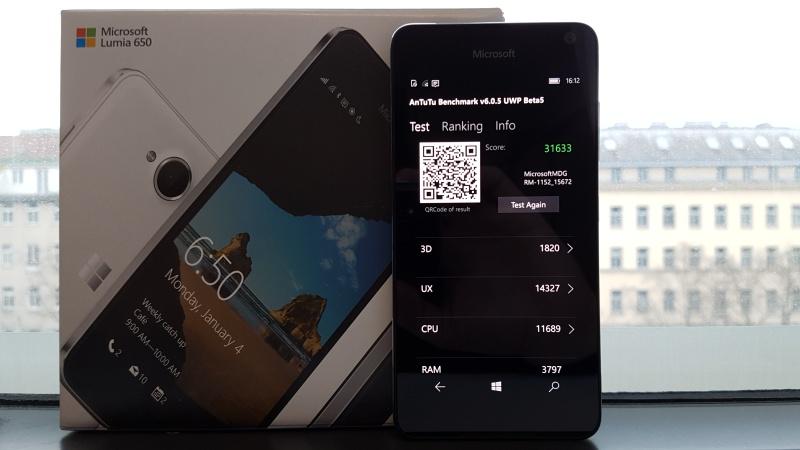 Microsoft Lumia 650 Leistung