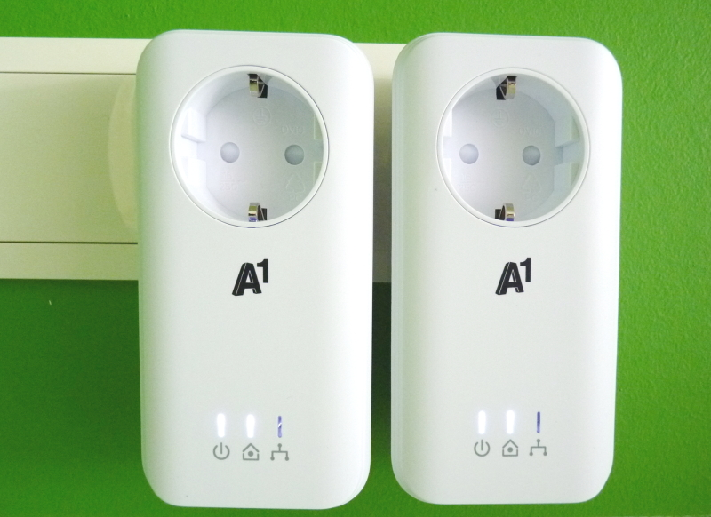 A1 Powerline Adapter WLAN am Stromnetz