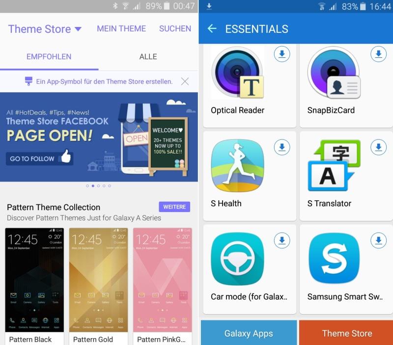 Samsung Galaxy A3 Alltag Features