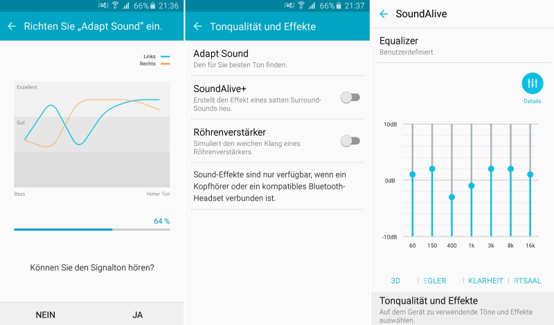 Samsung Galaxy A5 Einstellung Audio