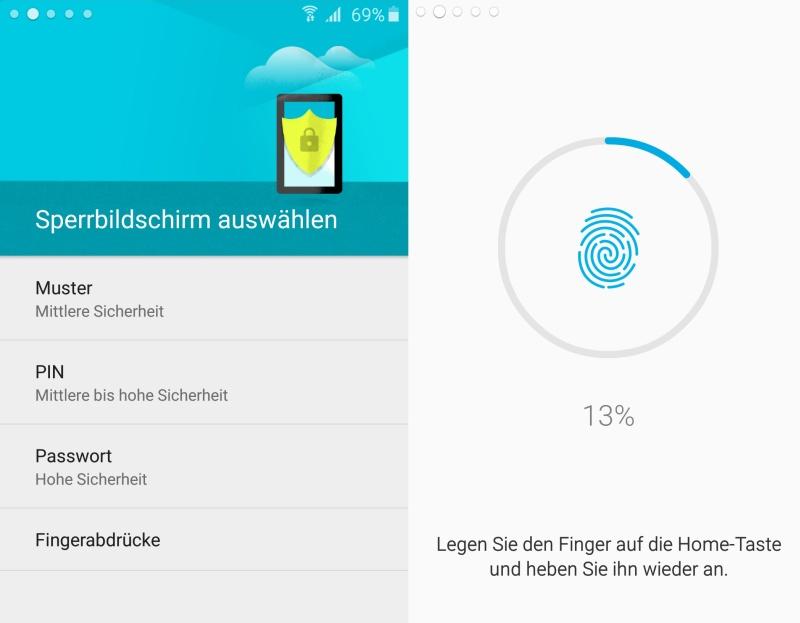 Samsung Galaxy A5 Sicherheit