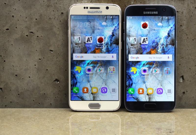 Samsung Galaxy S6 im Vergleich S7 Display