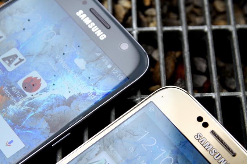 Samsung Galaxy S6 im Vergleich S7 Verarbeitung Display
