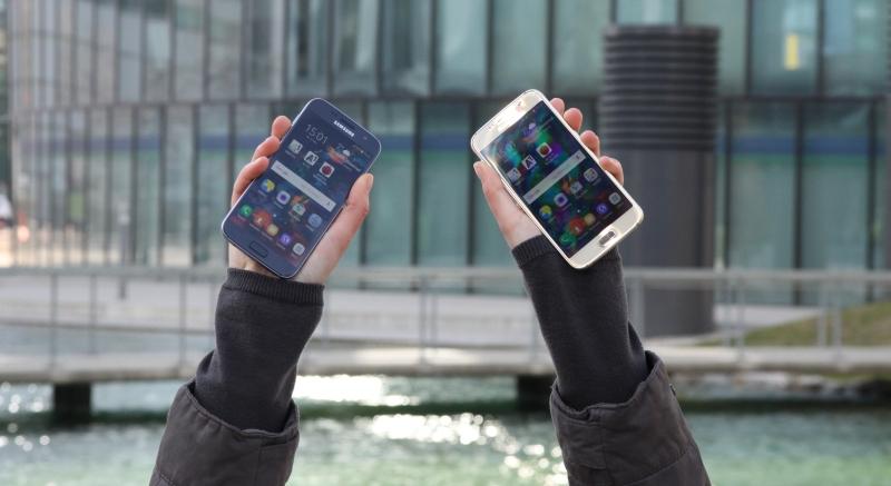 Galaxy S6 vs. S7 Vergleich Design Test
