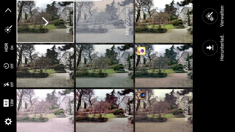 Samsung Galaxy S7 Kameraeinstellungen Filter Effekte für Fotos