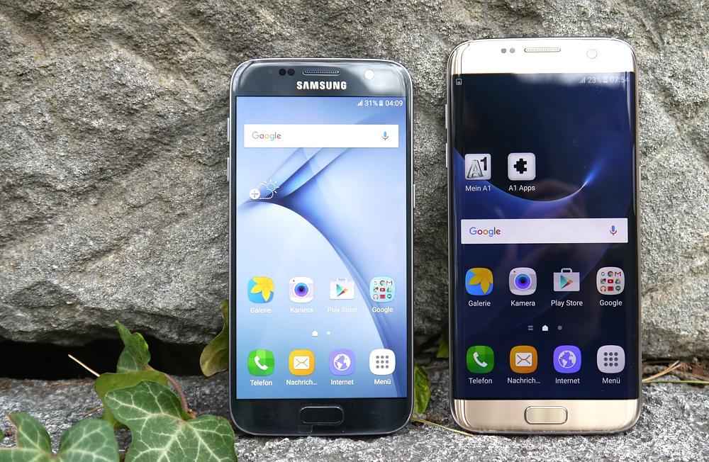 Samsung Galaxy S7 Edge Größenvergleich