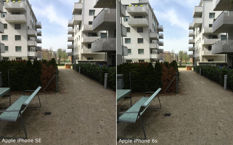 Fotovergleich iPhone SE vs. iPhone 6s