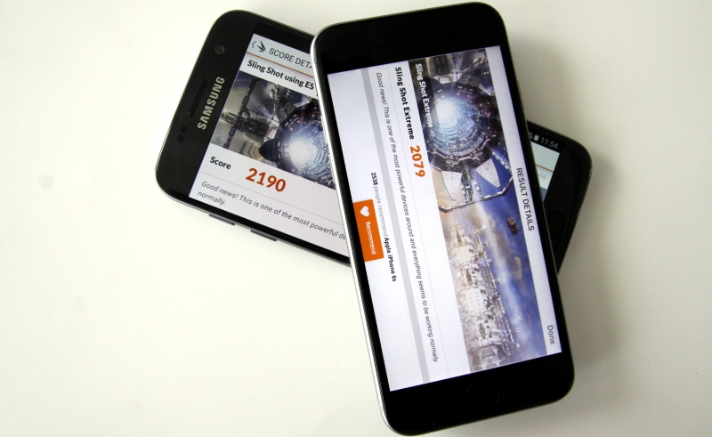 Benchmark Vergleich Galaxy S7 iPhone 6s
