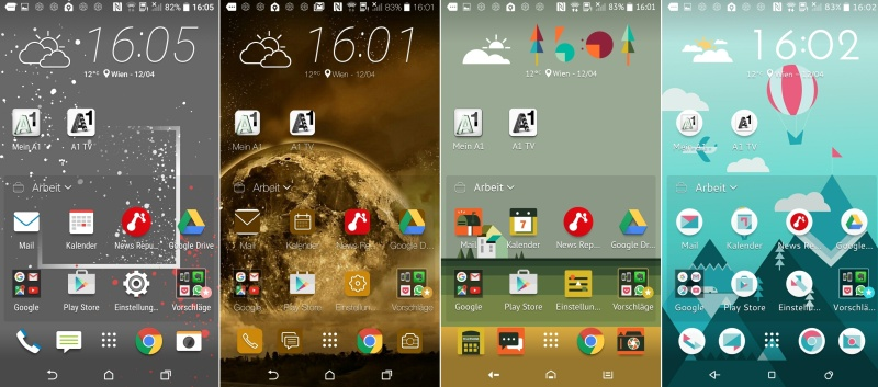 Die zahlreichen Themes verleihen dem Smartphone den individuellen Touch