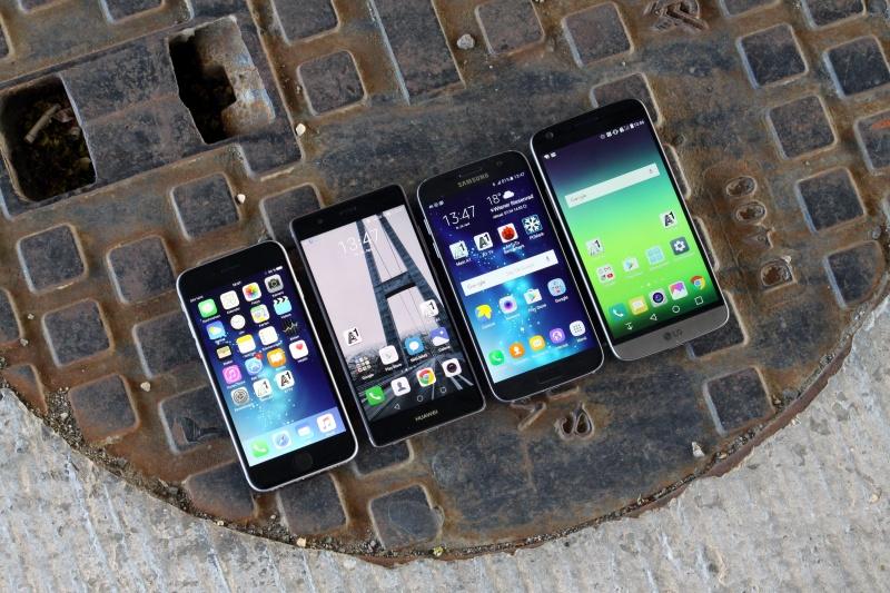 Huawei P9 Vergleich Größe S7 iPhone 6s LG G5